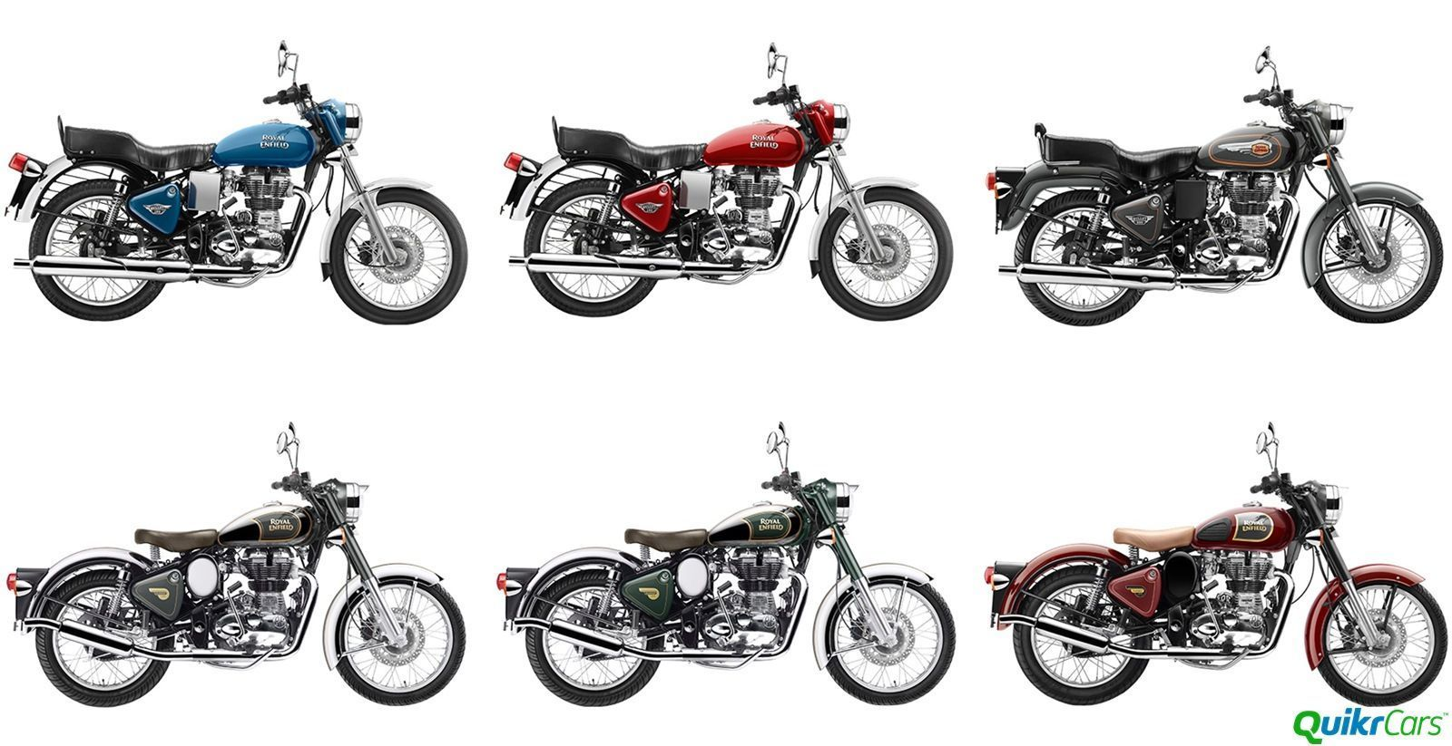 Royal Enfield 2016 Colour Options Announced